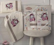 Комплект махровых полотенец для детей BAMBINO-SAMALOT 50*70+70*120 Арт.3094-1