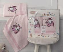 Комплект махровых полотенец для детей BAMBINO-SAMALOT 50*70+70*120 Арт.3094-2
