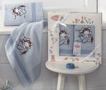 Комплект махровых полотенец для детей BAMBINO-SAMALOT 50*70+70*120 Арт.3094-4