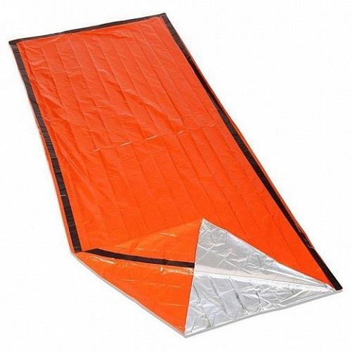 Аварийный спальный мешок-палатка из полиэтилена Emergency Thermal Blanke