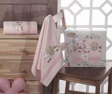 Комплект махровых полотенец для детей BAMBINO-TRAIN 50*70 + 70*120 Арт.2134-3