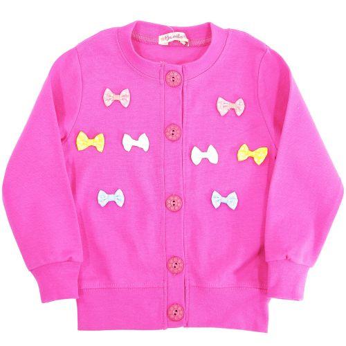 Кардиган для девочек 3-6 лет Bonito малиновый