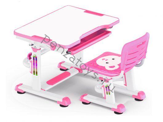 Комплект Парта+стул Mealux BD-08 Teddy с пеналом