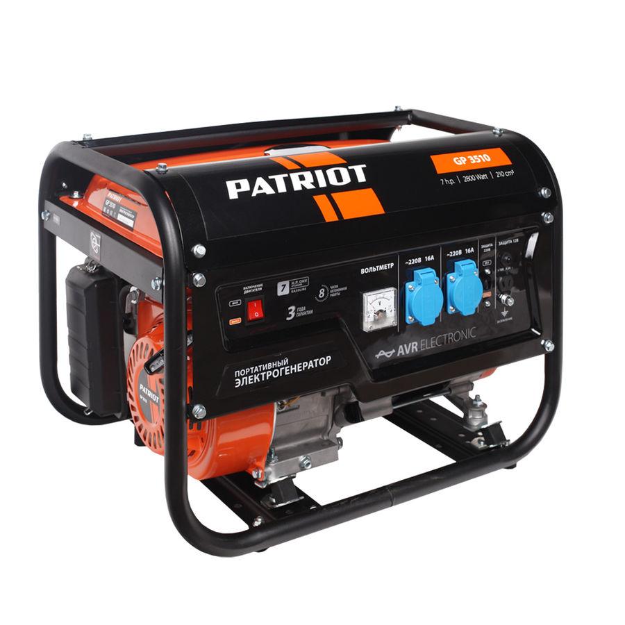 Бензиновый генератор PATRIOT GP 3510 (474101535)