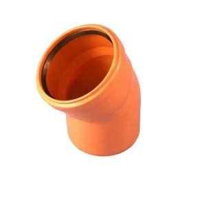 Отвод для наружной канализации ПВХ 160х15˚