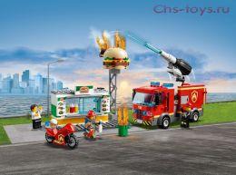 Конструктор LELE City Пожар в бургер-кафе 28048 (Аналог LEGO 60214) 349 дет
