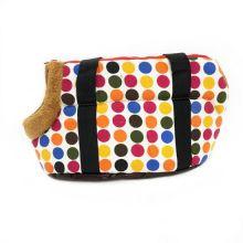 Сумка-переноска для собак с меховой отделкой Геометрия, Рисунок: Круги цветные