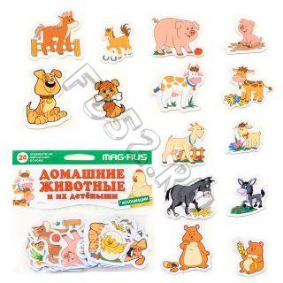 Игра магнитная Домашние животные и их детеныши, 24 эл-та 22931