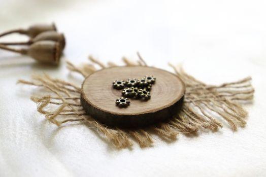 Металлические бусины, Рондель классический, бронза 5 мм, 20 шт/упак