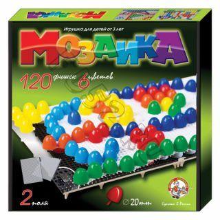 Мозаика d20/6цв./120шт. 2 поля