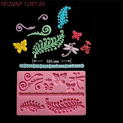 Молд силиконовый Бабочки/Листья