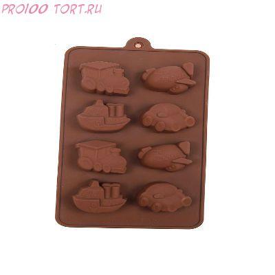 Форма для шоколада и карамели ТРАНСПОРТ
