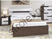 Кровать Гавана 1,6*2,0 венге/акрил белый