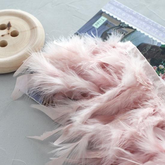 Тесьма с перьями, 14 см