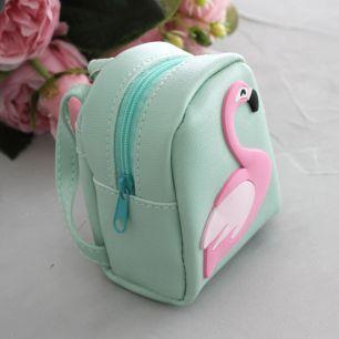 Кукольный аксессуар - Рюкзак для куклы Мятный, 10 см