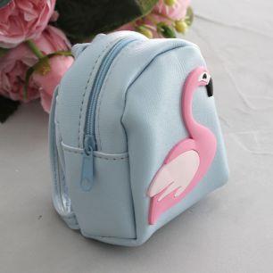 Кукольный аксессуар - Рюкзак для куклы Голубой, 10 см
