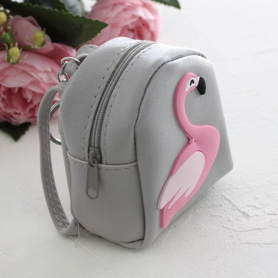 Кукольный аксессуар - Рюкзак для куклы Серый, 10 см