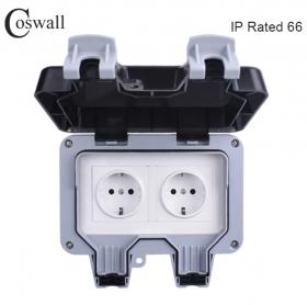 Влагозащищенная розетка Coswall IP66