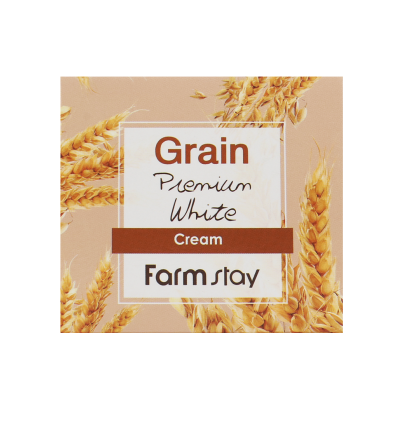 Осветляющий крем с маслом ростков пшеницы FarmStay Grain Premium White Cream, 100 г
