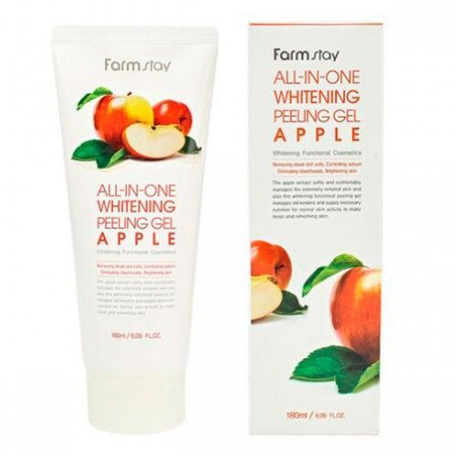 Пилинг для лица с экстратком  яблока FarmStay All-In-One Whitening Peeling Gel Apple , 180 мл.