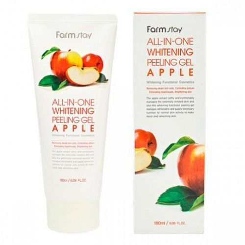 Пилинг для лица с экстратком  яблока FarmStay All-In-One Whitening Peeling Gel Apple , 180 мл.