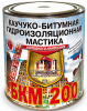 Мастика Каучуко-Битумная БКМ-200 2кг Гидроизоляционная, Холодного Нанесения, Черная