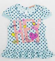Туника для девочек 1-5 лет Bonito kids голубая в горошек