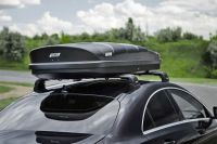 Автомобильный бокс на крышу Nobu Cross, 380 литров, черный текстурный