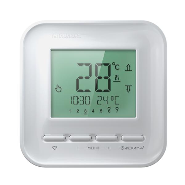Электронный терморегулятор Теплолюкс 515 для теплого пола белый