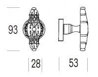 Ручка-кноб Salice Paolo Pompei 4317/4315. схема