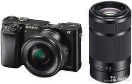 SONY Alpha A6000 Double Kit 16-50mm PZ + 55-210mm