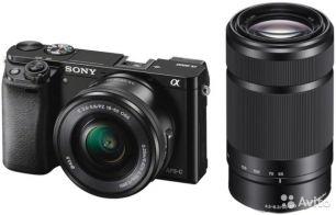 SONY Alpha A6000 Double Kit 16-50mm PZ + 55-210mm