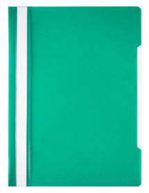 Папка-скоросшиватель Economy A4 прозрач. верх. лист пластик зеленый (арт. 998169)