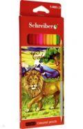 Набор двухсторонних цветных карандашей (24 цвета, 12 штук), деревянный корпус, трехгранные (арт. S 0081-24)