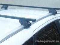 Багажник на интегрированные рейлинги Lada Vesta sw / Lada Vesta sw cross, Евродеталь, стальные прямоугольные дуги