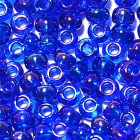 Бисер чешский 61300 синий прозрачный радужный Preciosa 1 сорт