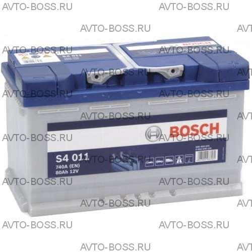 Аккумулятор Bosch S4, 80Ah, 740A, 0 092 S40 110, (-/+)