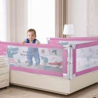 Защитный барьер для кровати, цвет розовый (2)