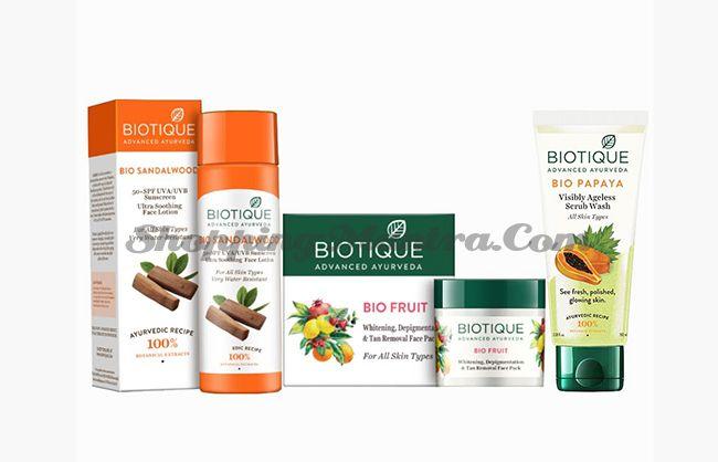 Солнцезащитный набор косметики для лица Биотик   Biotique Suncare Kit