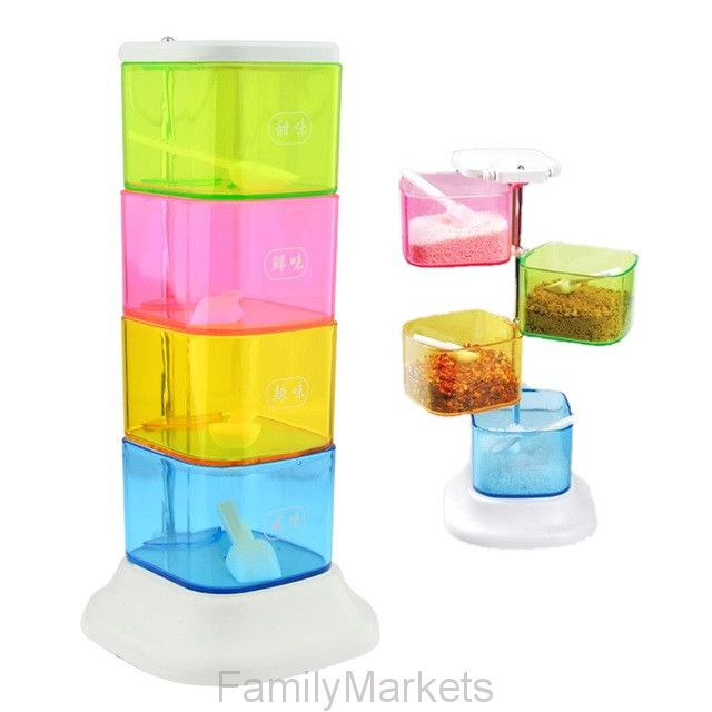 Стойка с контейнерами для сыпучих продуктов THE CREATIVITY BLENDS FLAVORS THE BOX