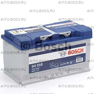 Автомобильный аккумулятор 0092S40100 BOSCH (S4 010) 80 a/h обр 580400074 LB4 80 Ач