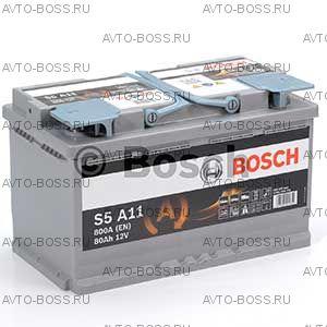 Автомобильный аккумулятор 0092S5A110 BOSCH (S5 A11) 80 a/h обр AGM 580901080 L4 80 Ач