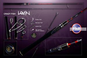 Спиннинг Crazy Fish Levin 2,20м / тест: 7-28 гр