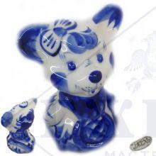 Гжель Символ Года 2020 ОПТОМ - Мышонок-девочка 9х6х5,5см