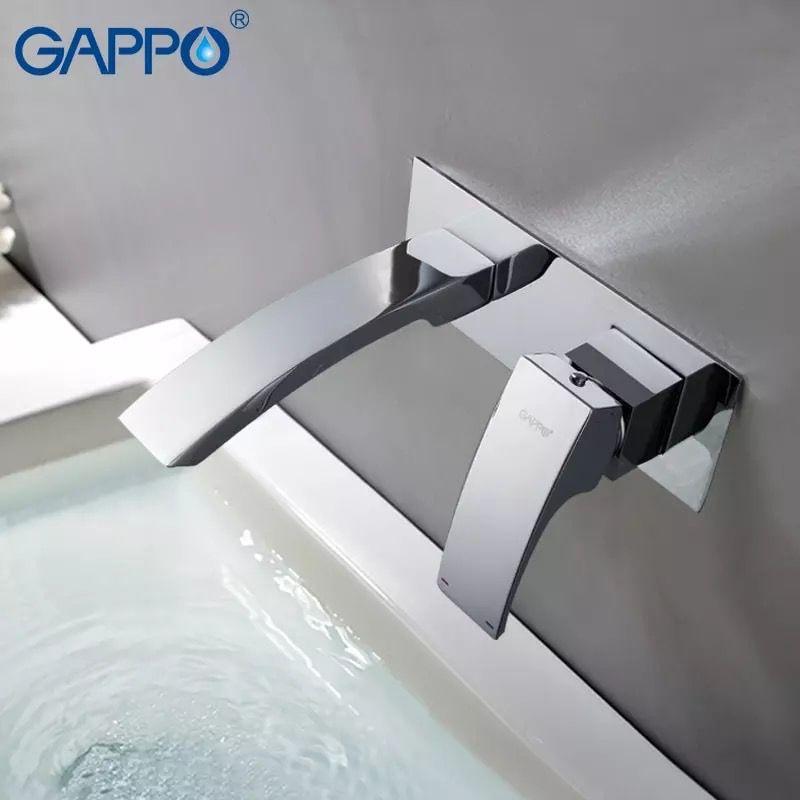 Встраиваемый смеситель для раковины Gappo G1007-2