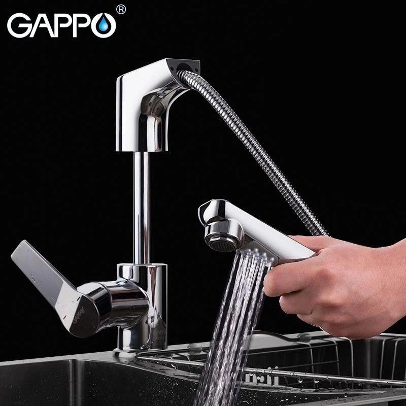 Gappo G1299 Смеситель для кухни (вытяжной)