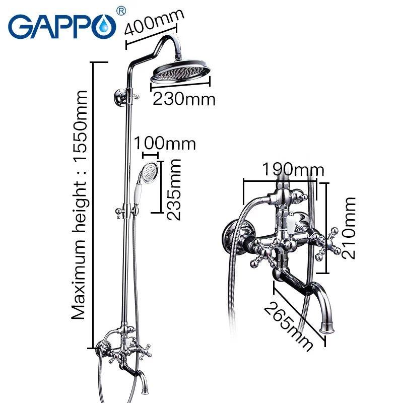 Gappo G2489 Душевая стойка со смесителем
