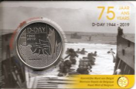 D-DAY(75 лет высадке в Нормандии) 5 евро Бельгия 2019