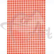 Бумага для техники DECOPATCH 30х40 / Оранжевая клетка (арт. C-FDA 3220)