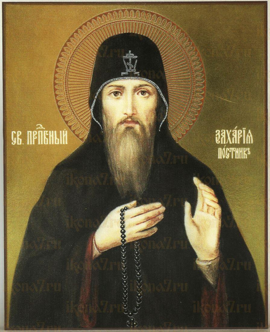 Икона Захария Печерский,Постник